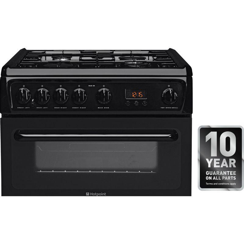 Hotpoint-Double-Cooker-HAG60K-Black-A--Enamelled-Sheetmetal-Award