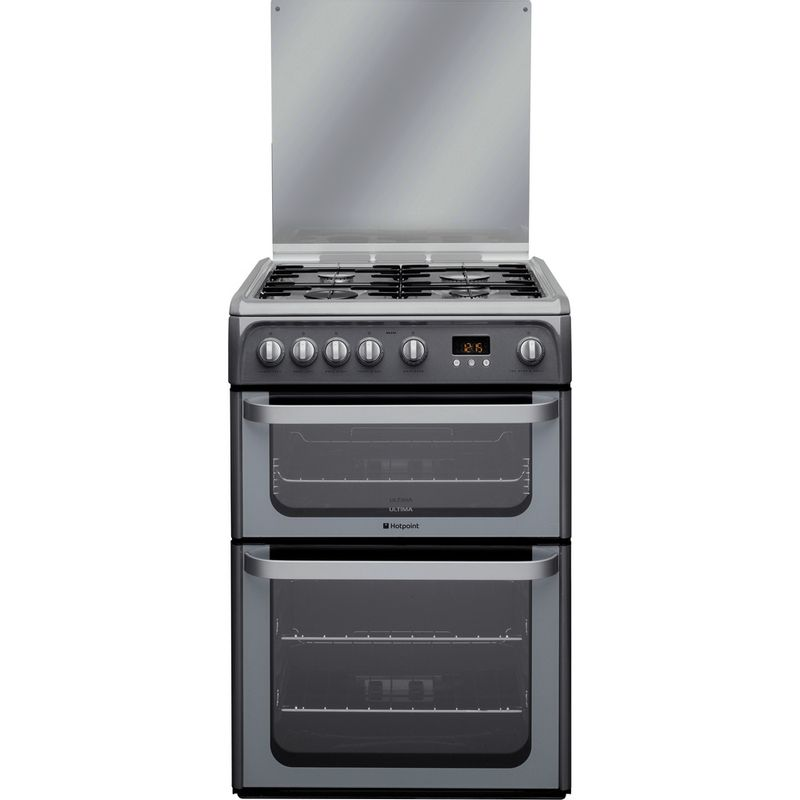 Hotpoint-Double-Cooker-HUG61G-Graphite-A--Enamelled-Sheetmetal-Frontal