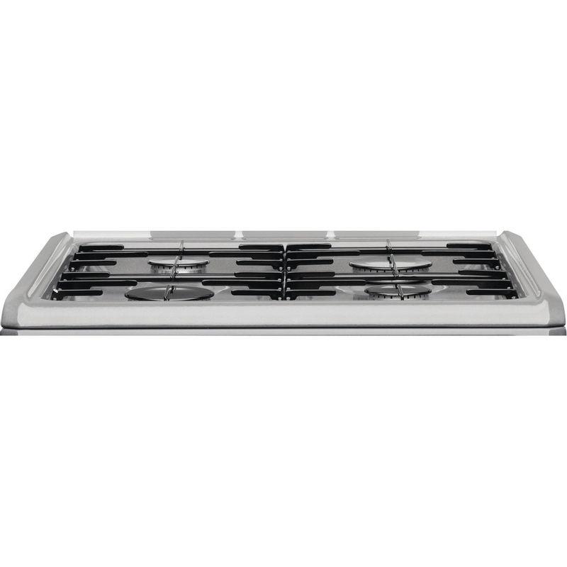 Hotpoint-Double-Cooker-HUG61G-Graphite-A--Enamelled-Sheetmetal-Frontal-top-down