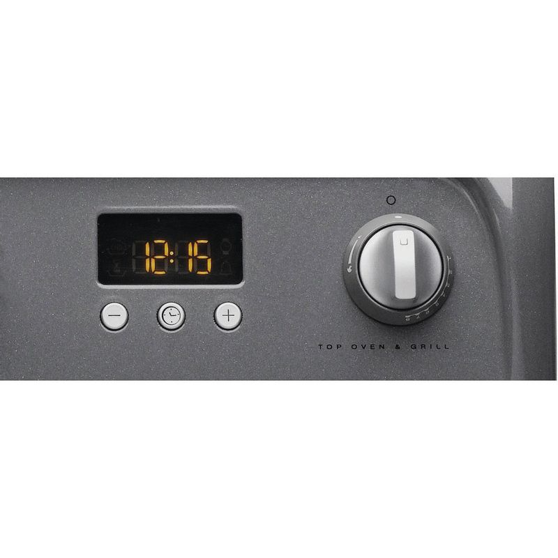 Hotpoint-Double-Cooker-HUG61G-Graphite-A--Enamelled-Sheetmetal-Control-panel