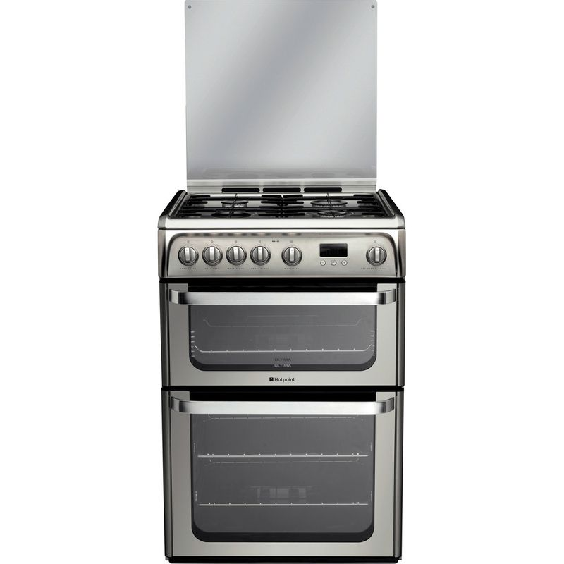 Hotpoint-Double-Cooker-HUG61X-Inox-A--Stainless-steel-Frontal
