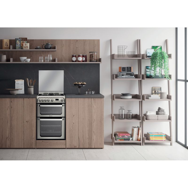 Hotpoint-Double-Cooker-HUG61X-Inox-A--Stainless-steel-Lifestyle_Frontal