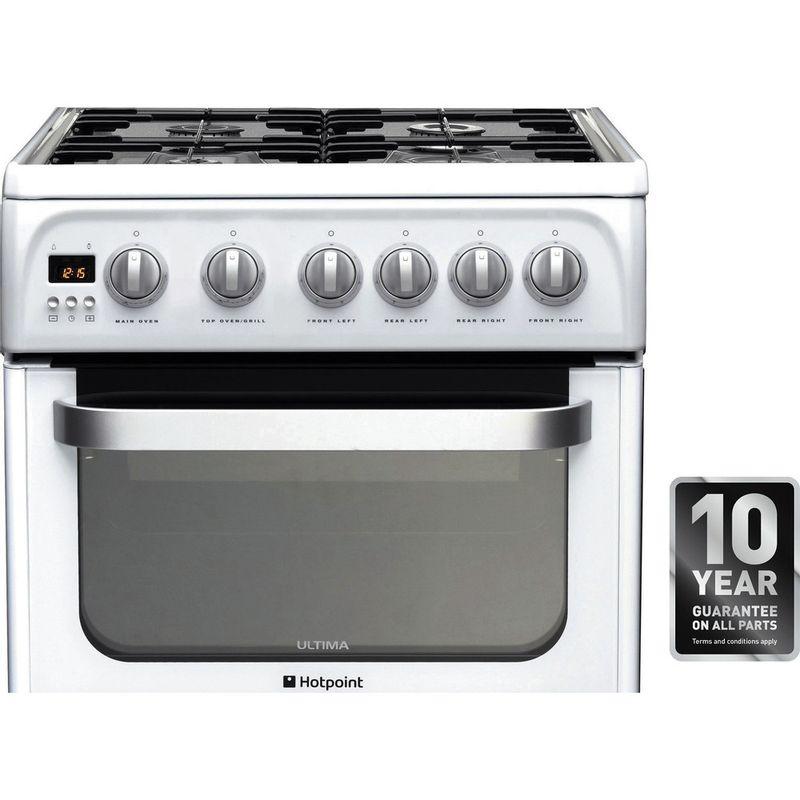 Hotpoint-Double-Cooker-HUG52P-White-A--Enamelled-Sheetmetal-Award