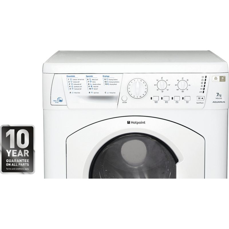Hotpoint-Washer-dryer-Free-standing-WDL-540-P--UK-.C-White-Front-loader-Control-panel