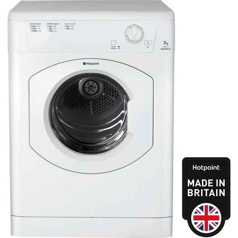 Hotpoint-Dryer-TVM-570-P--UK--White-Frontal