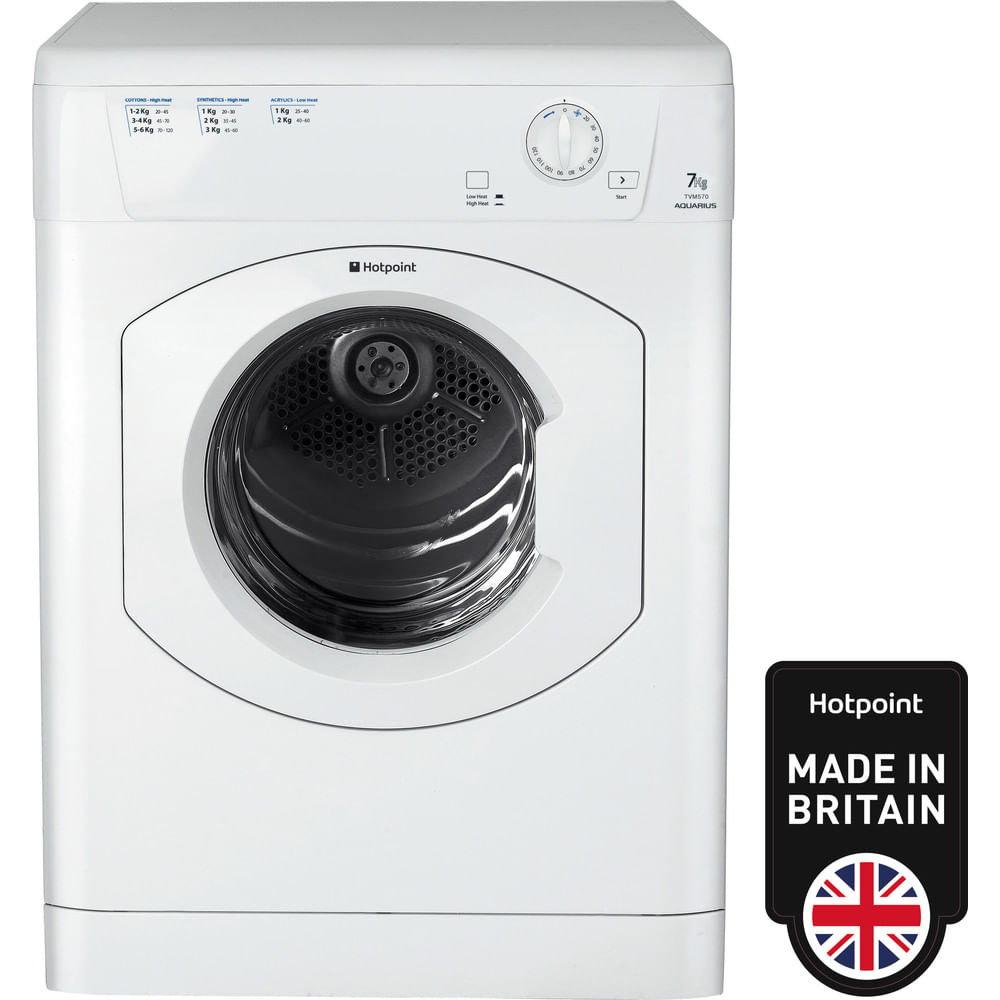 Hotpoint Freestanding tumble dryer TVM 570 P (UK) : discover the specifications of our home appliances and bring the innovation into your house and family.