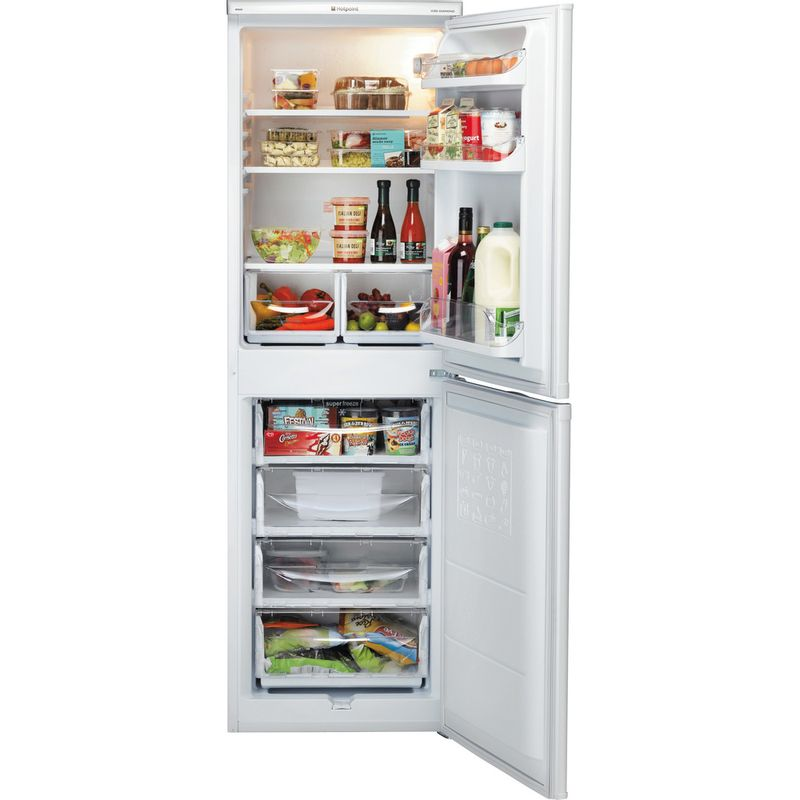 Hotpoint-Fridge-Freezer-Free-standing-RFAA52P-White-2-doors-Frontal-open