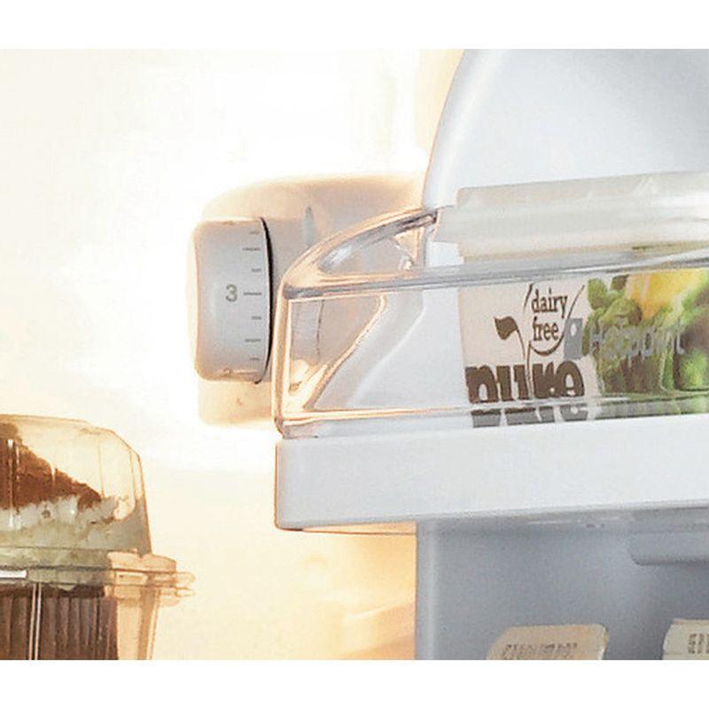 Hotpoint-Fridge-Freezer-Free-standing-RFAA52P-White-2-doors-Control-panel