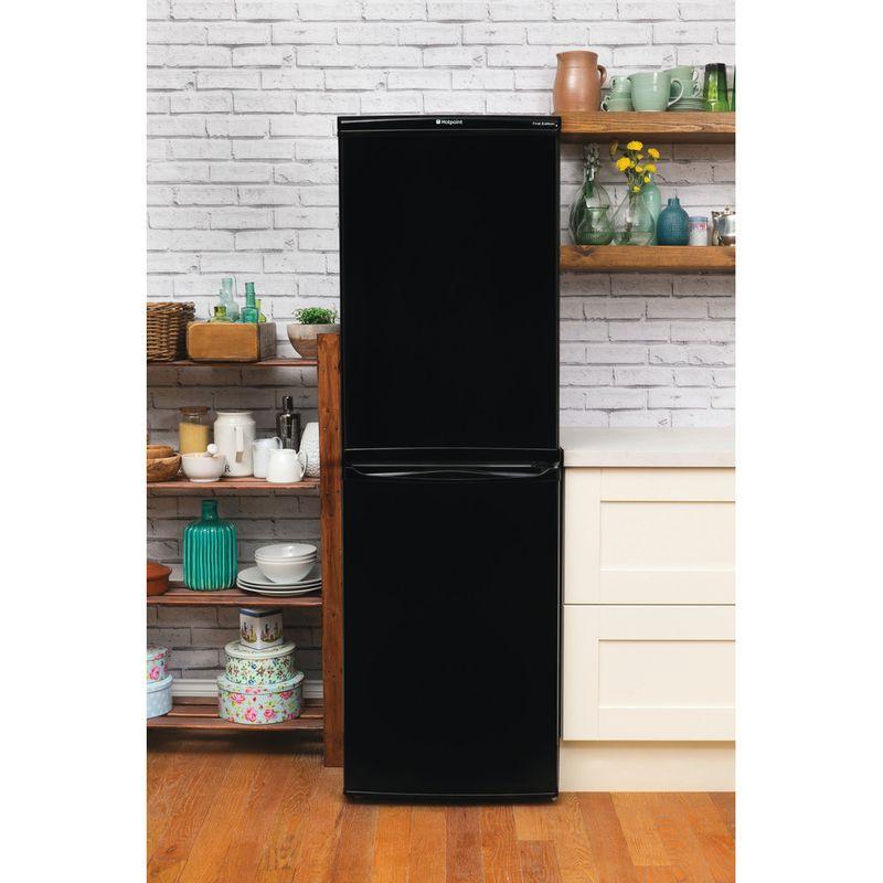 Hotpoint-Fridge-Freezer-Free-standing-RFAA52K-Black-2-doors-Lifestyle_Frontal