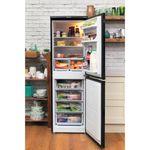 Hotpoint-Fridge-Freezer-Free-standing-RFAA52K-Black-2-doors-Lifestyle_Frontal_Open