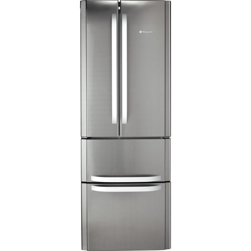 Hotpoint-Fridge-Freezer-Free-standing-FFU4D-X-Inox-2-doors-Frontal