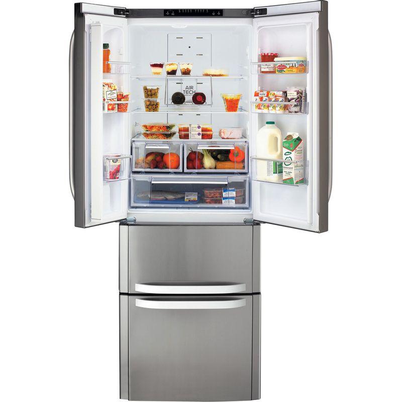 Hotpoint-Fridge-Freezer-Free-standing-FFU4D-X-Inox-2-doors-Frontal_Open