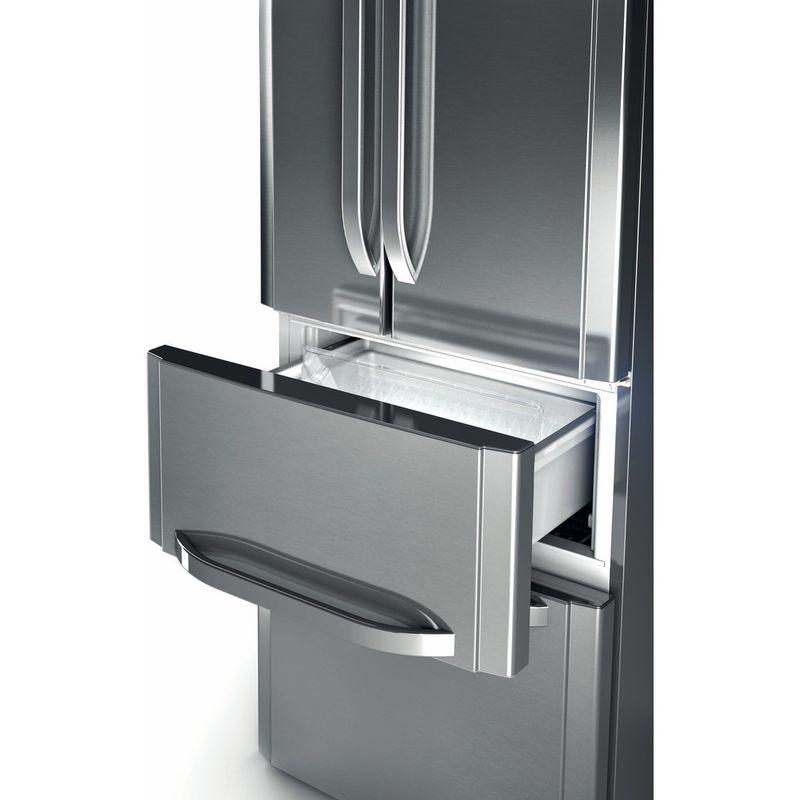 Hotpoint-Fridge-Freezer-Free-standing-FFU4D-X-Inox-2-doors-Drawer