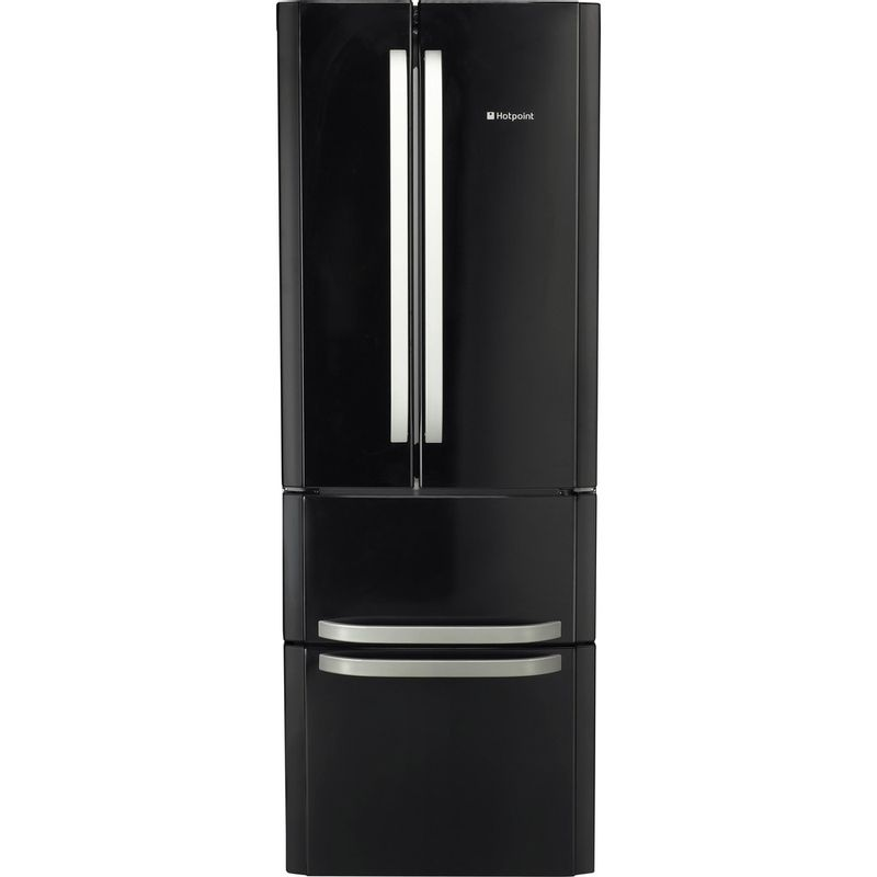 Hotpoint-Fridge-Freezer-Free-standing-FFU4D-K-Black-2-doors-Frontal