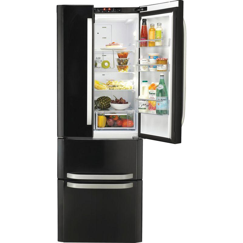 Hotpoint-Fridge-Freezer-Free-standing-FFU4D-K-Black-2-doors-Frontal_Open