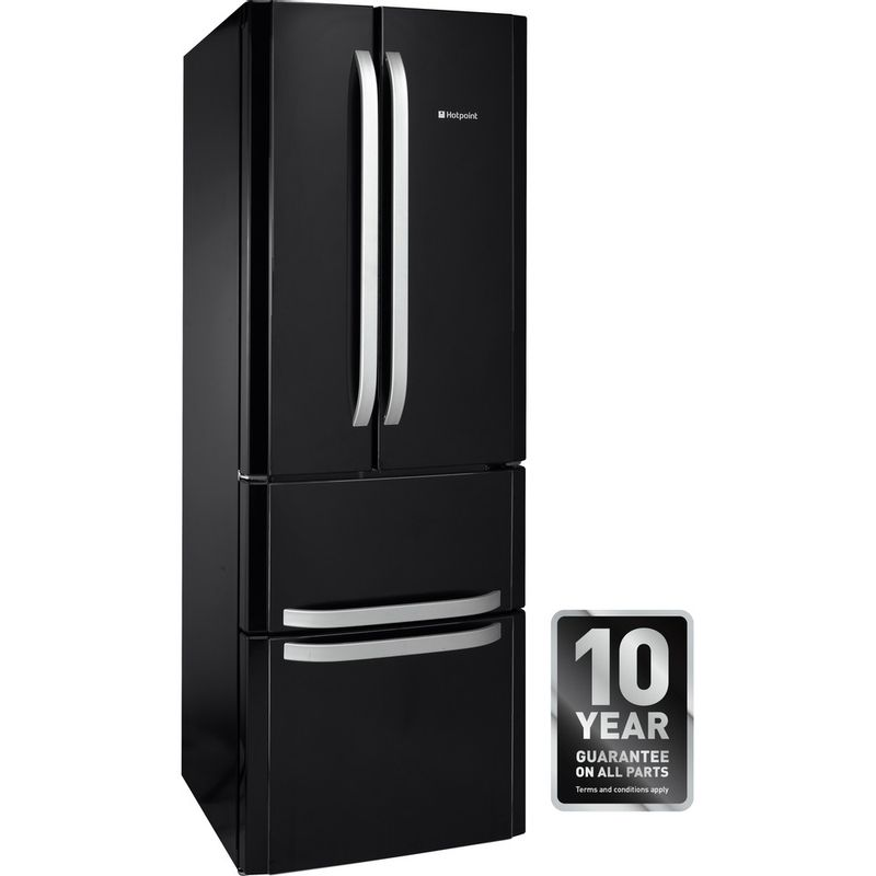 Hotpoint-Fridge-Freezer-Free-standing-FFU4D-K-Black-2-doors-Award
