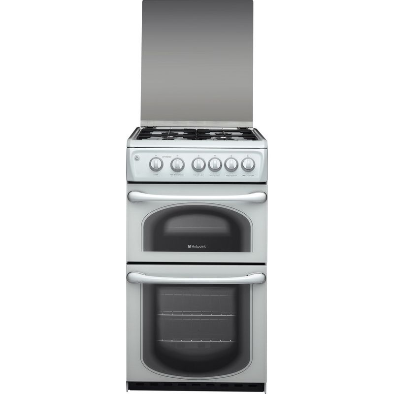 Hotpoint-Double-Cooker-50HGP-White-A--Enamelled-Sheetmetal-Frontal