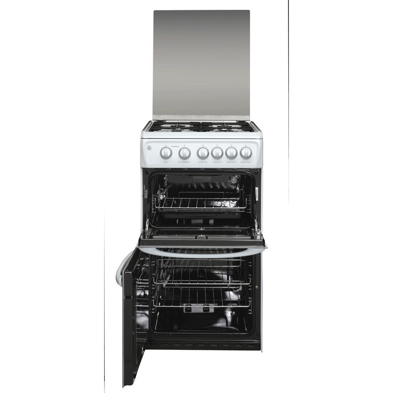 Hotpoint-Double-Cooker-50HGP-White-A--Enamelled-Sheetmetal-Frontal_Open