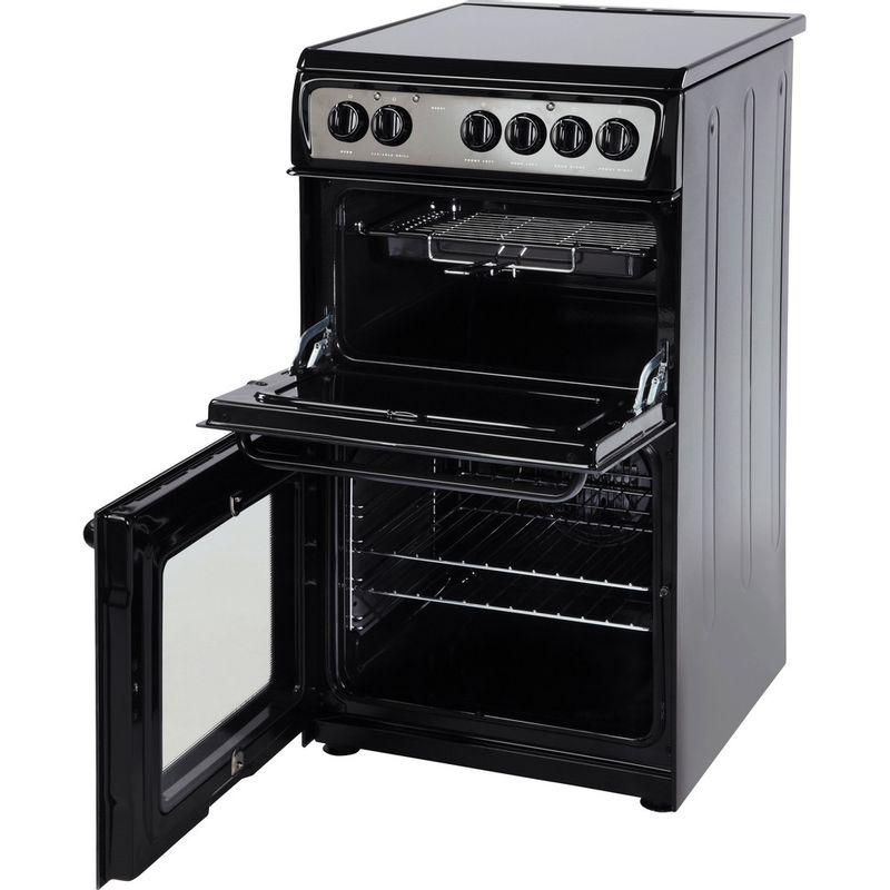 Hotpoint-Double-Cooker-HAE51K-S-Black-B-Vitroceramic-Perspective_Open