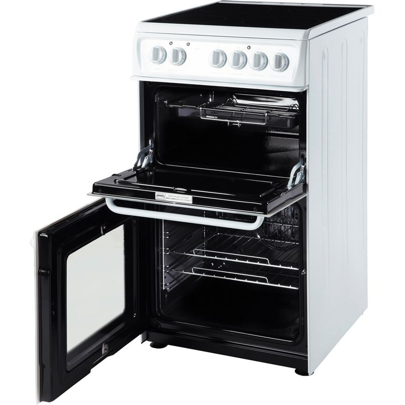 Hotpoint-Double-Cooker-HAE51P-S-White-B-Vitroceramic-Perspective_Open