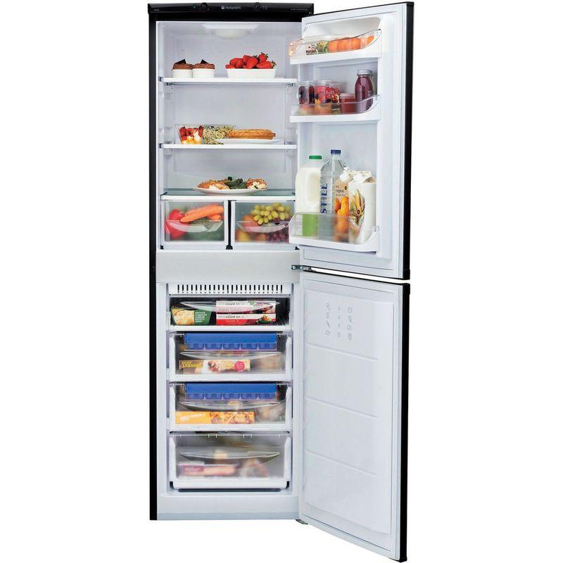 Hotpoint-Fridge-Freezer-Free-standing-FFAA52K.1-Black-2-doors-Frontal_Open
