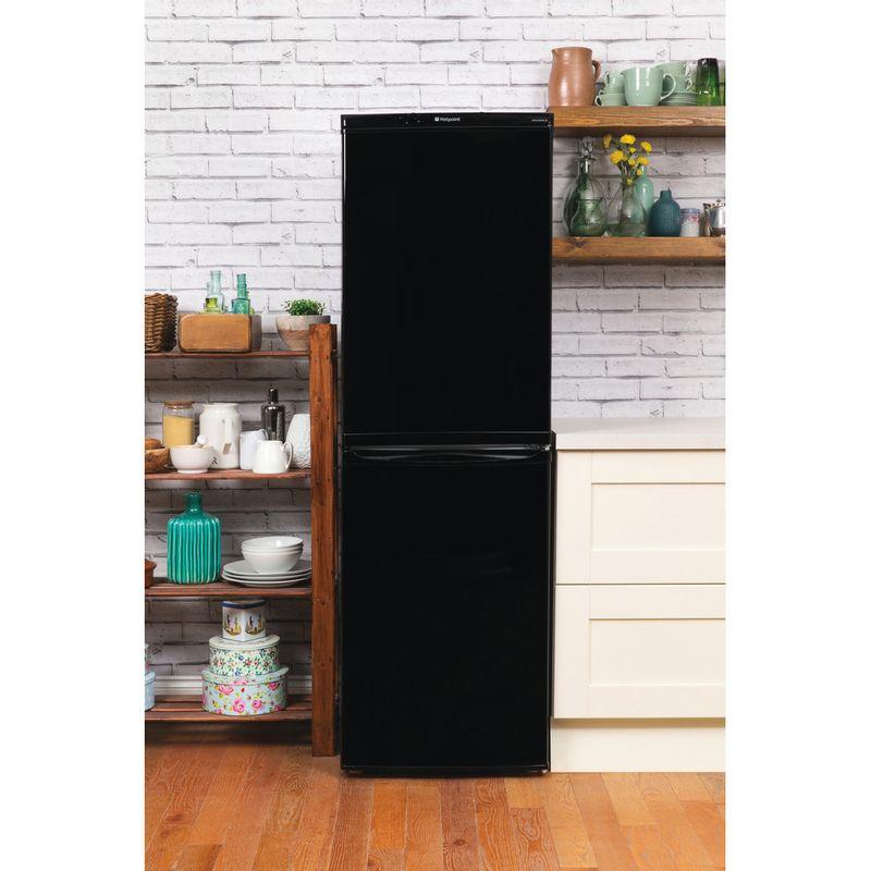 Hotpoint-Fridge-Freezer-Free-standing-FFAA52K.1-Black-2-doors-Lifestyle_Frontal