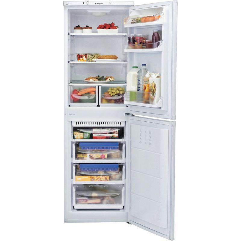 Hotpoint-Fridge-Freezer-Free-standing-FFAA52P.1-White-2-doors-Frontal_Open