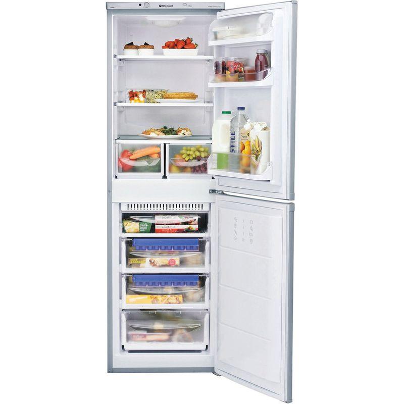 Hotpoint-Fridge-Freezer-Free-standing-FFAA52S.1-Silver-2-doors-Frontal_Open