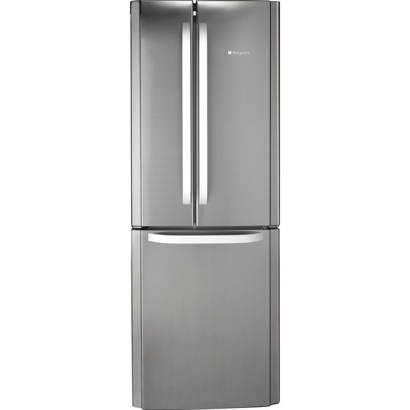 Hotpoint-Fridge-Freezer-Free-standing-FFU3D-X-Inox-2-doors-Frontal
