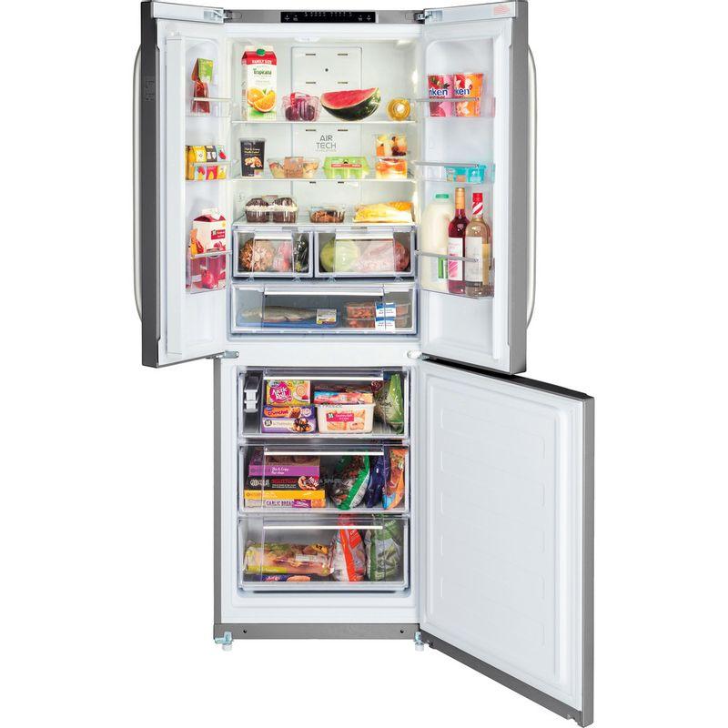 Hotpoint-Fridge-Freezer-Free-standing-FFU3D-X-Inox-2-doors-Frontal_Open