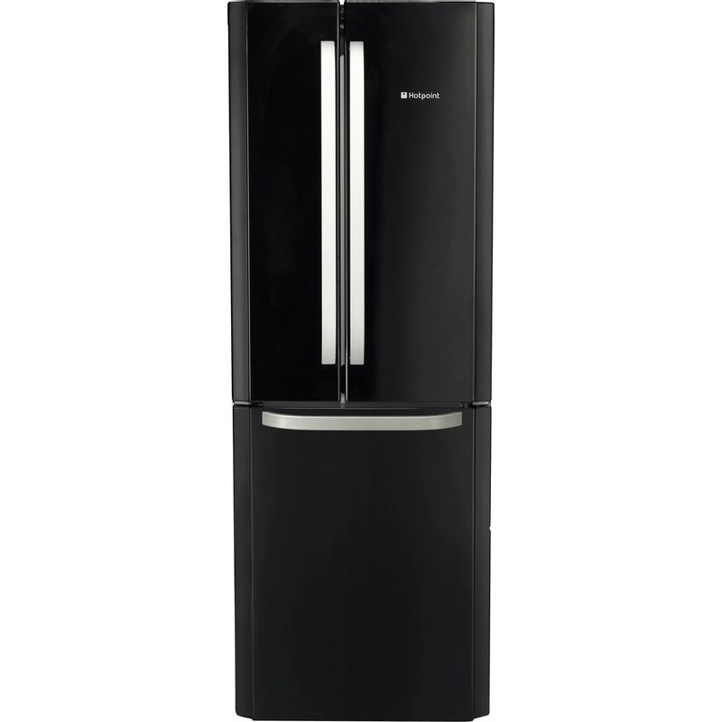 Hotpoint-Fridge-Freezer-Free-standing-FFU3D-K-Black-2-doors-Frontal