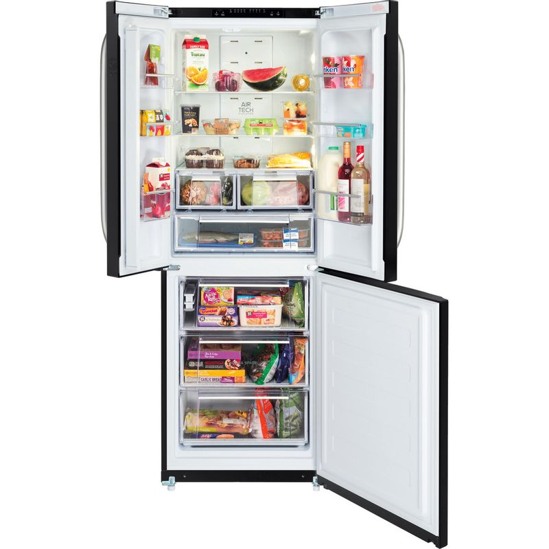 Hotpoint-Fridge-Freezer-Free-standing-FFU3D-K-Black-2-doors-Frontal_Open