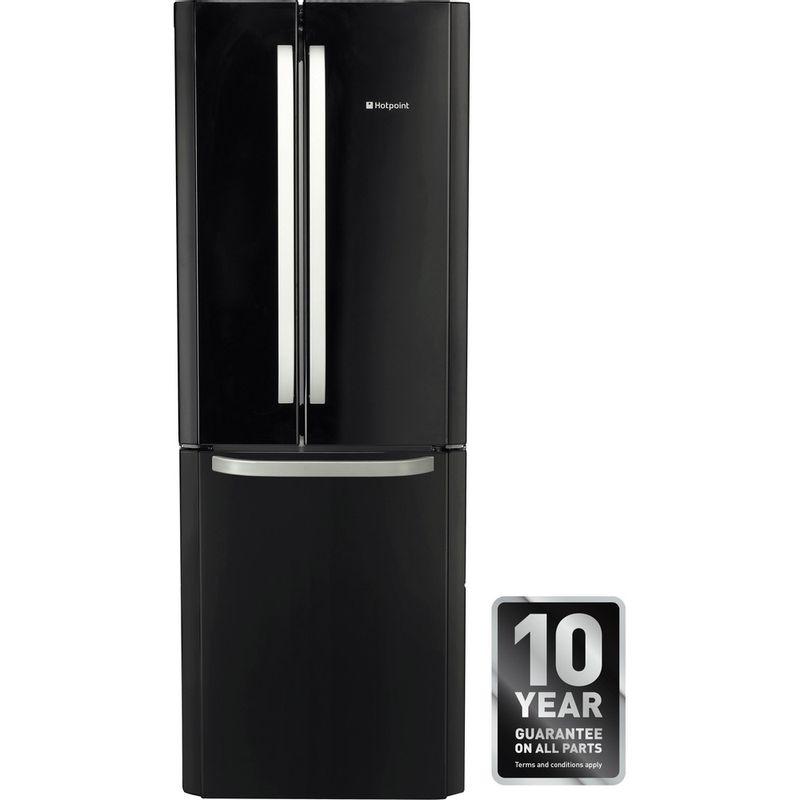 Hotpoint-Fridge-Freezer-Free-standing-FFU3D-K-Black-2-doors-Award