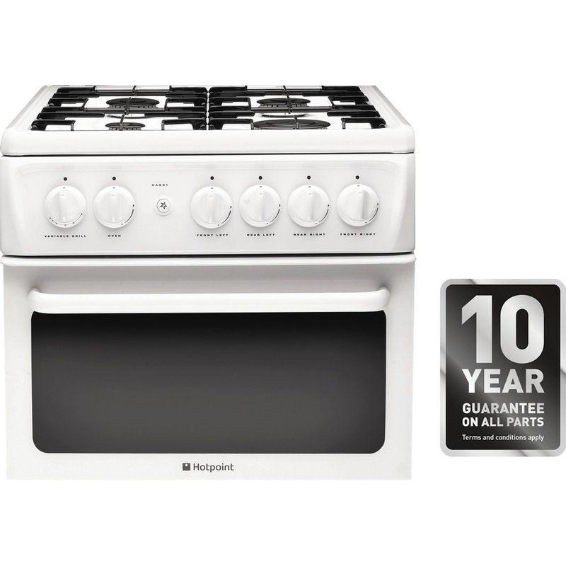 Hotpoint-Double-Cooker-HAGL51P-White-A--Enamelled-Sheetmetal-Award