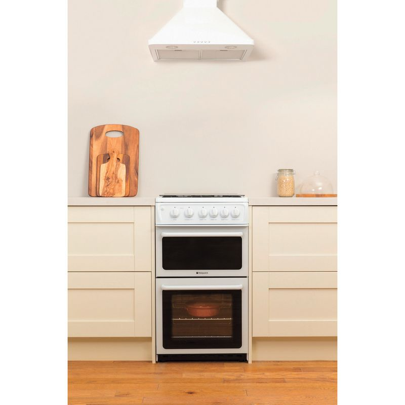 Hotpoint-Double-Cooker-HAGL51P-White-A--Enamelled-Sheetmetal-Lifestyle_Frontal