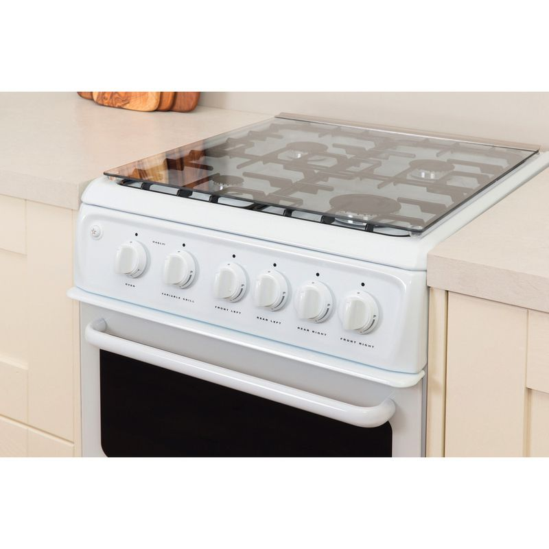Hotpoint-Double-Cooker-HAGL51P-White-A--Enamelled-Sheetmetal-Lifestyle_Perspective