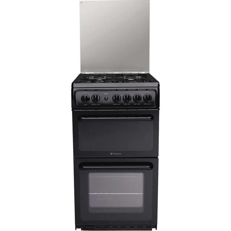 Hotpoint-Double-Cooker-HAGL51K-Black-A--Enamelled-Sheetmetal-Frontal
