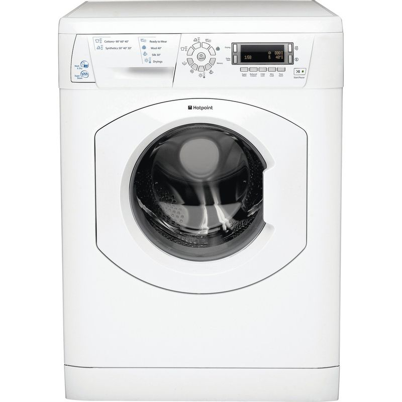 Hotpoint-Washer-dryer-Free-standing-WDD-750P-UK-White-Front-loader-Frontal