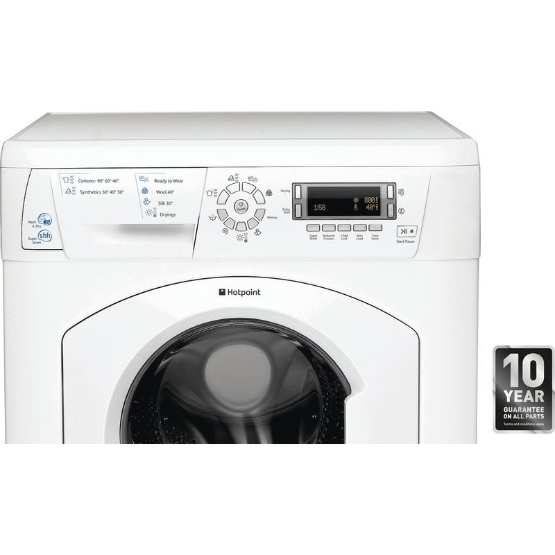 Hotpoint-Washer-dryer-Free-standing-WDD-750P-UK-White-Front-loader-Award