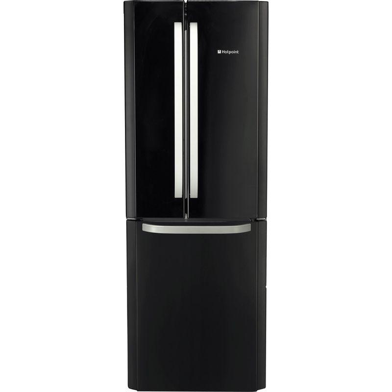 Hotpoint-Fridge-Freezer-Free-standing-FFU3DG-K-Black-2-doors-Frontal
