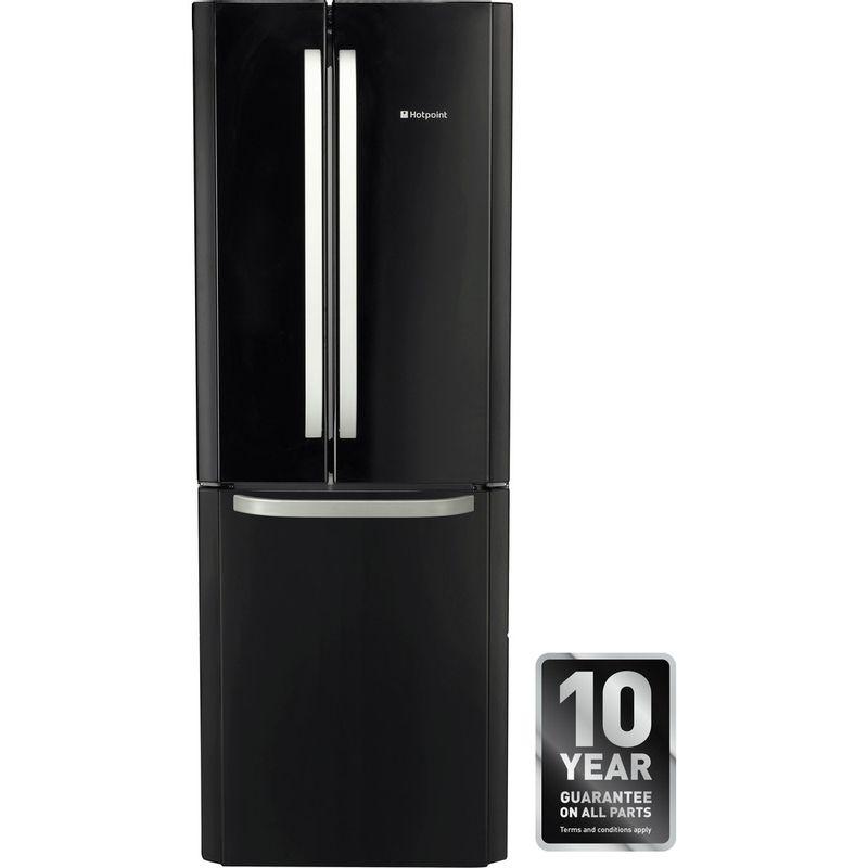 Hotpoint-Fridge-Freezer-Free-standing-FFU3DG-K-Black-2-doors-Award