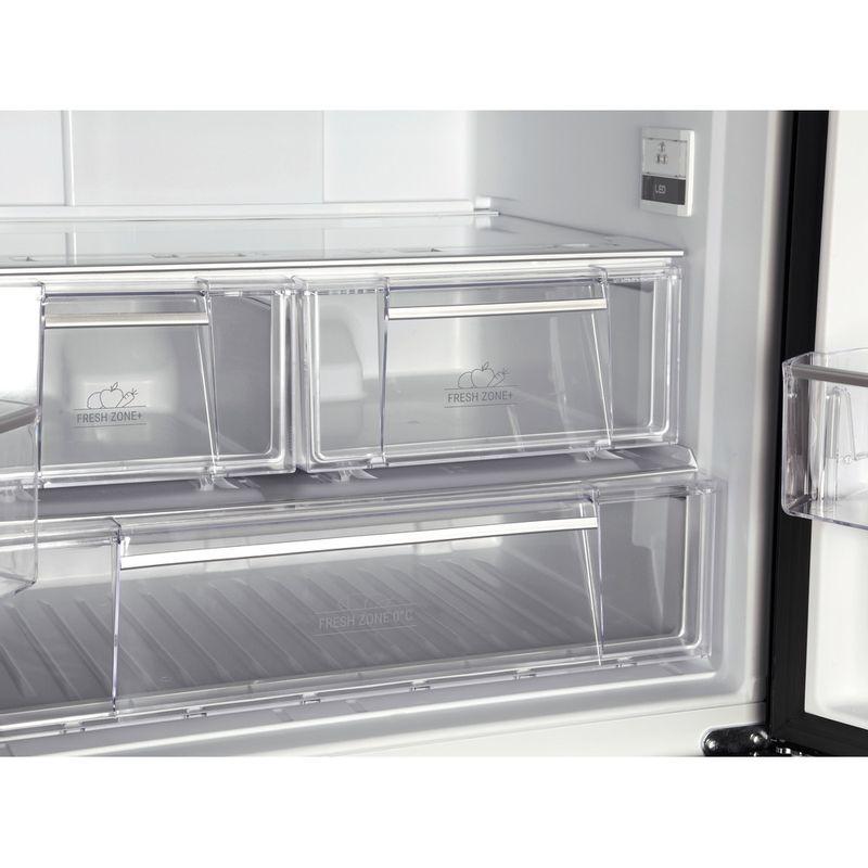 Hotpoint-Fridge-Freezer-Free-standing-FFU3DG-K-Black-2-doors-Drawer