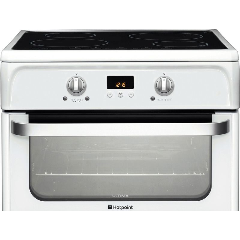 Hotpoint-Double-Cooker-HUI612-P-White-A-Vitroceramic-Frontal