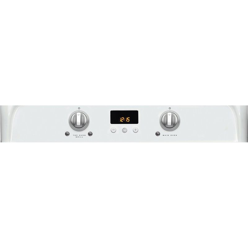 Hotpoint-Double-Cooker-HUI612-P-White-A-Vitroceramic-Control-panel