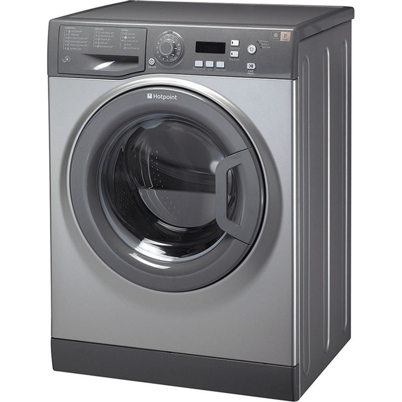 Hotpoint-Washing-machine-Free-standing-WMAQF-721G-UK-Graphite-Front-loader-A--Perspective