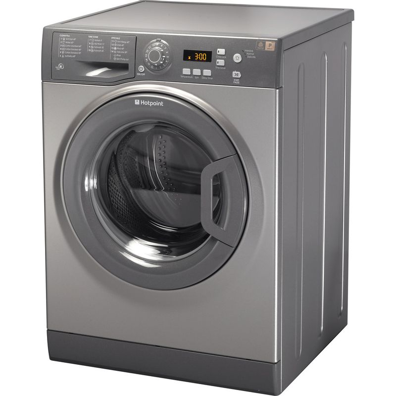 Hotpoint-Washing-machine-Free-standing-WMXTF-742G-UK-Graphite-Front-loader-A---Perspective