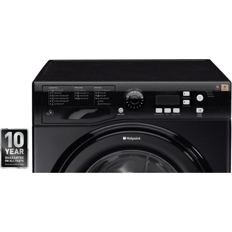 Hotpoint-Washing-machine-Free-standing-WMXTF-742K-UK-Black-Front-loader-A---Award