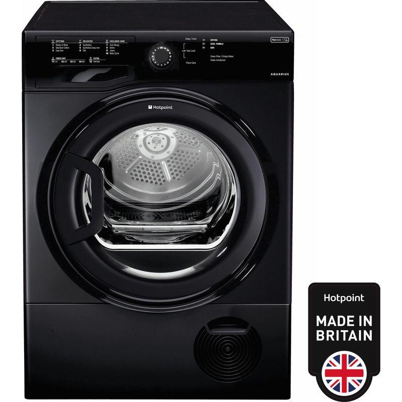 Hotpoint-Dryer-TCFS-83B-GK--UK--Black-Frontal