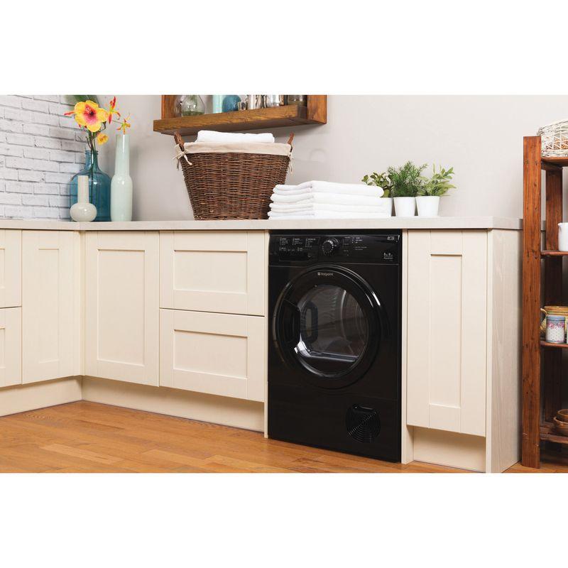 Hotpoint-Dryer-TCFS-83B-GK--UK--Black-Lifestyle_Perspective