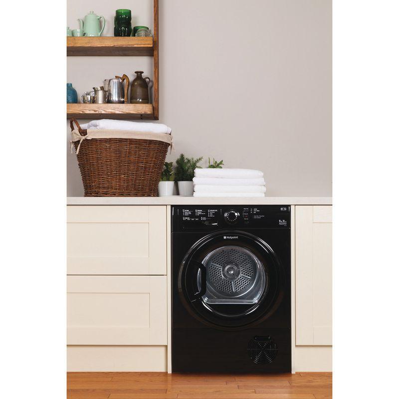 Hotpoint-Dryer-TCFS-83B-GK--UK--Black-Lifestyle_Frontal